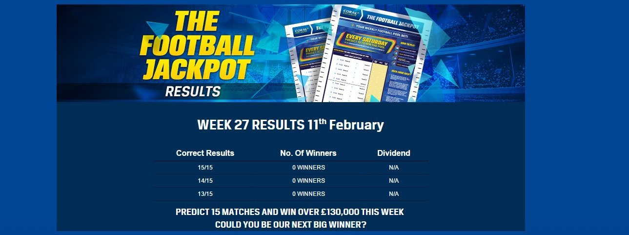 Coral football jackpot rules
