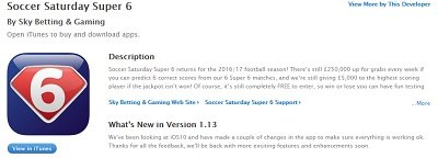 Super 6 app on iTunes