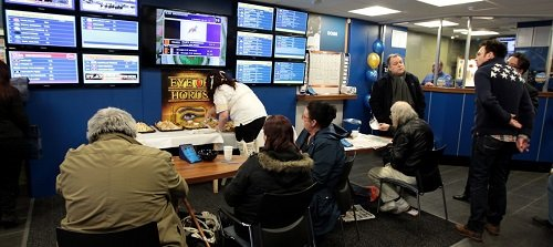 Inside a Bookmakers shop
