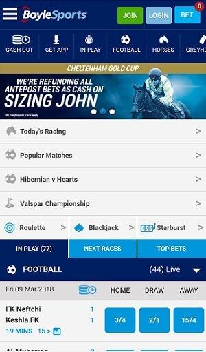 Boylesports new mobile app