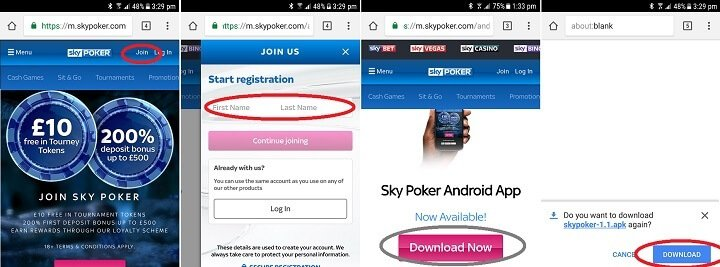 Sky Poker - the new way to play mobile poker