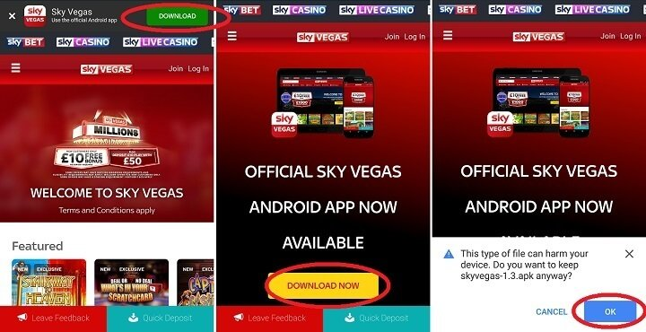 Vegas experience with Sky