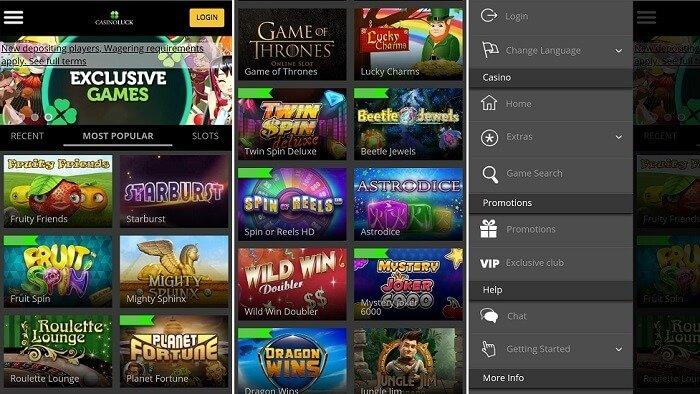 CasinoLuck app for mobile