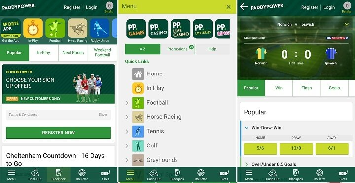 Paddy Power Android download