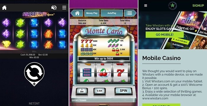 The new games from Wixstars casino