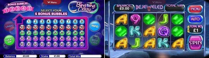 Vegas style games from Sky Vegas app
