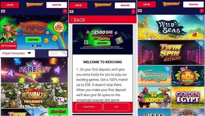 Kerching casino mobile games