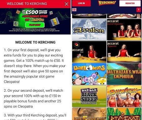 Kerching casino app made for iPhone & Android