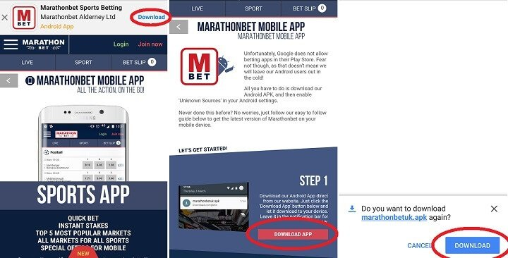 Updated Marathonbet app review