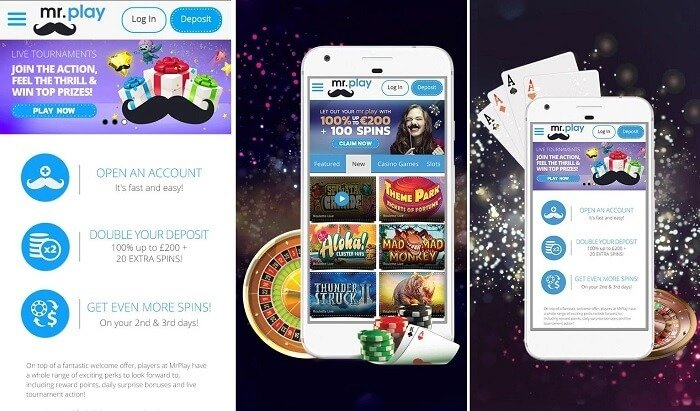 Mr Play casino games for mobile
