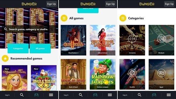 Dunder casinos new app