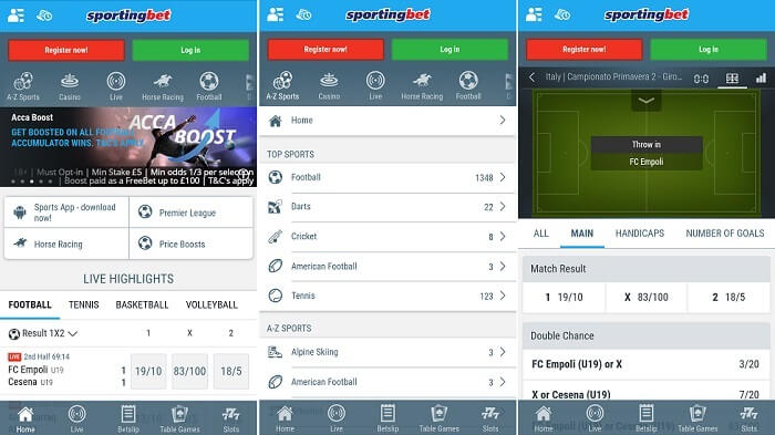 Sportingbet Android app download