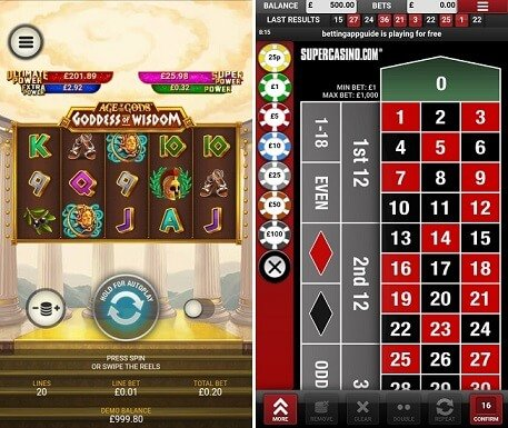 The new & improved SuperCasino mobile app