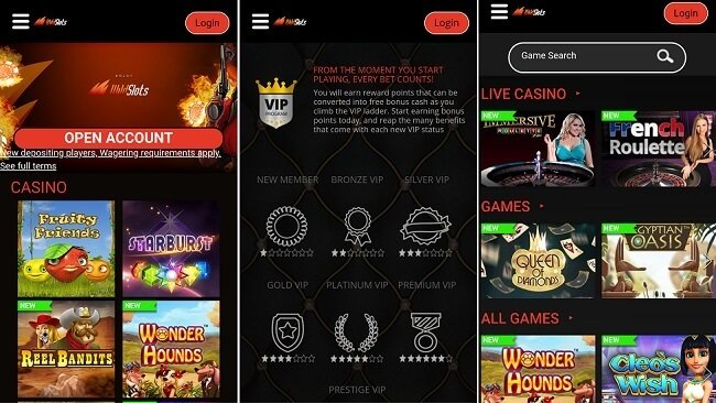 WildSlots casino games