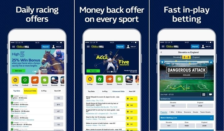 William Hill for iOS
