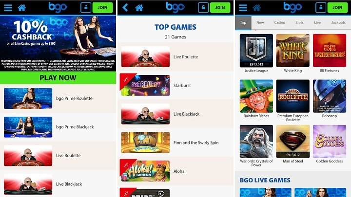 bgo casino for mobile