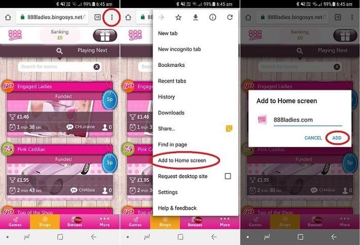 888 ladies mobile app