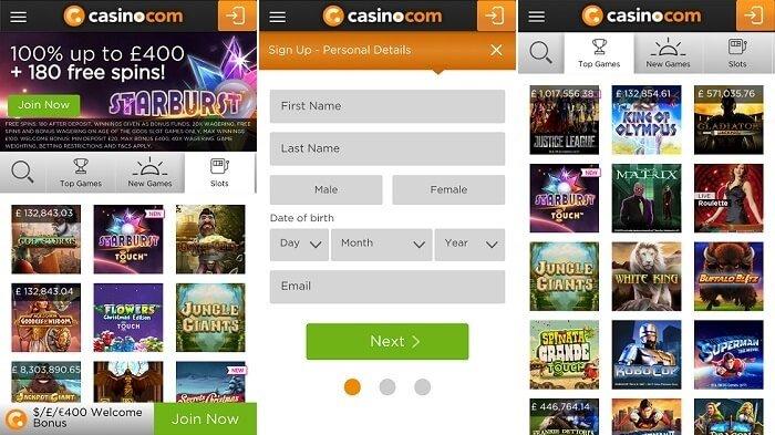 casino.com's new mobile app