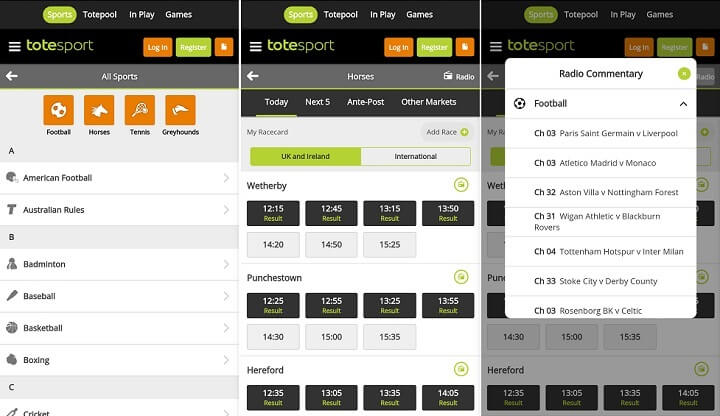 totesport android app