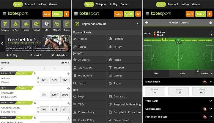 totesport live betting football