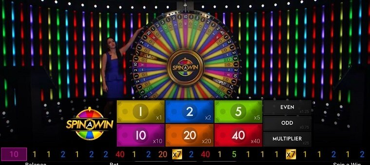 Spin and Win games