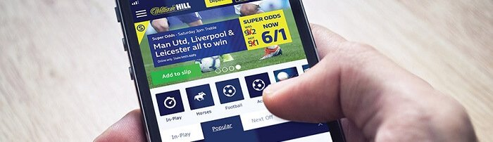 William Hill bet In-Play