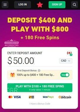Crypto deposit